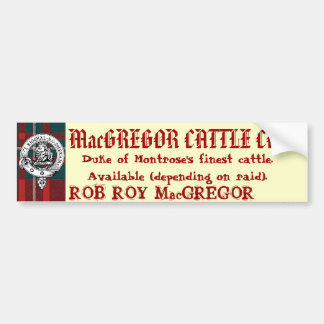 MacGREGOR CATTLE CO. Available (Depending On Raid) Bumper Sticker