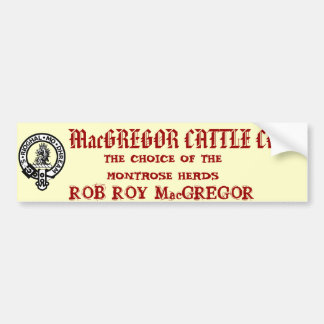 MacGREGOR CATTLE CO. Bumper Sticker