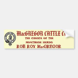 MacGREGOR CATTLE CO. Bumper Sticker