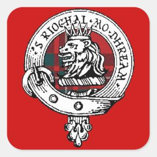 MacGregor Clan Badge Sticker RED