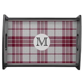 MacGregor Dress Plaid Monogram Serving Tray