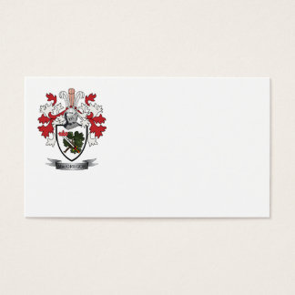 MacGregor Family Crest Coat of Arms Business Card