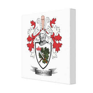MacGregor Family Crest Coat of Arms Canvas Print