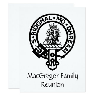 MacGregor Family Reunion Invitation