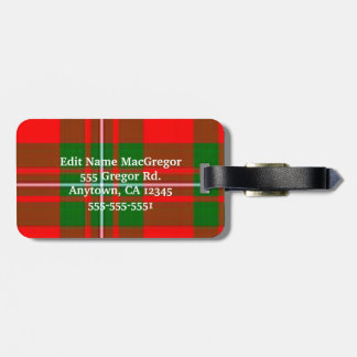 MacGregor Luggage Tag Please customize information