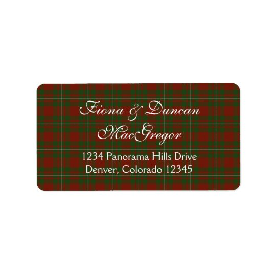 MacGregor of Cardney Tartan Return Address Label