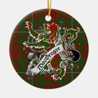 MacGregor Tartan Lion Ceramic Ornament