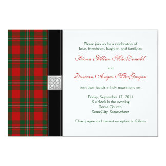 MacGregor Tartan Wedding Invitation