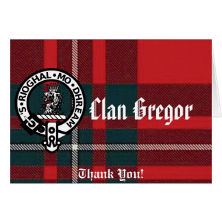 MacGregorRed1, Gregor Badge, Clan Gregor, Thank... Card