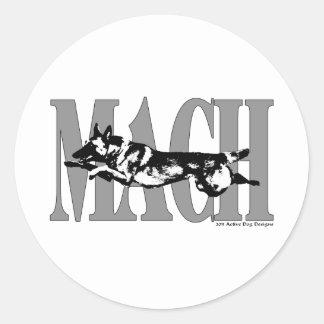 MACH Mal Classic Round Sticker