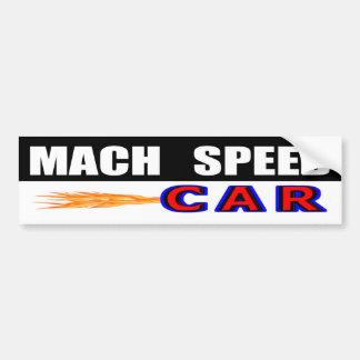 Mach Speed Car Bumper Sticker