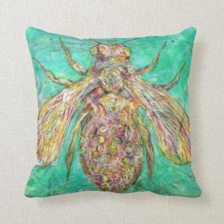 Machanical Bee Throw Pillow