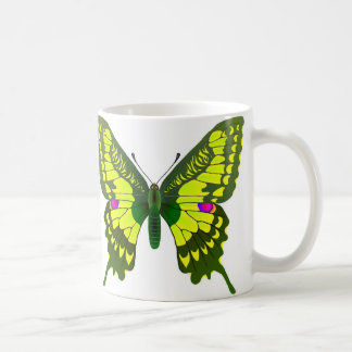 Machaon butterfly classic white coffee mug