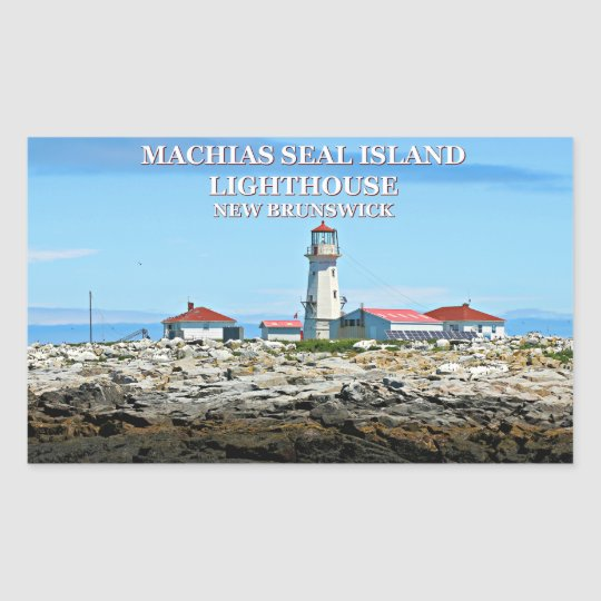Machias Seal Island Lighthouse, New Bruns Stickers