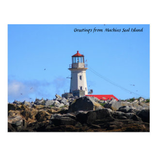 Machias Seal Island Lighthouse Postcard
