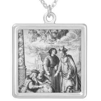 'Machina Coelestis' by Johannes Hevelius, Silver Plated Necklace