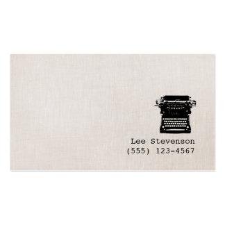 Machine à écrire vintage de toile de Faux d'auteur