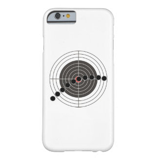 Machine gun bullet holes over shooting target barely there iPhone 6 case
