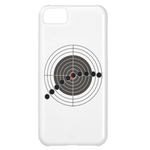 Machine gun bullet holes over shooting target iPhone 5C case