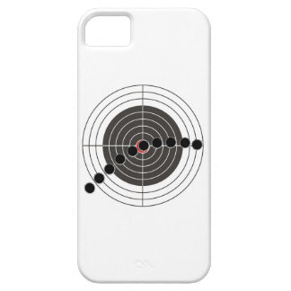 Machine gun bullet holes over shooting target case for the iPhone 5
