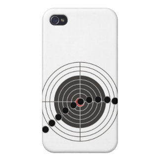 Machine gun bullet holes over shooting target iPhone 4/4S cover