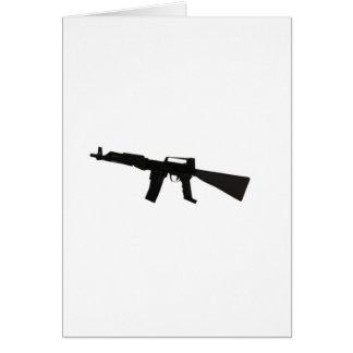 Machine Gun Greeting Card
