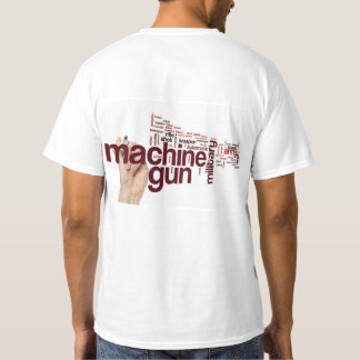 Machine Gun Word Cloud T-shirt