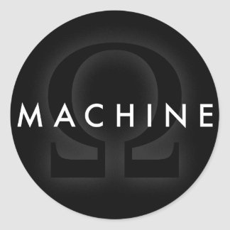machine omega classic round sticker