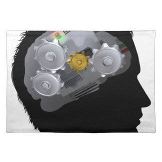 Machine Workings Gears Cogs Brain Man Placemat