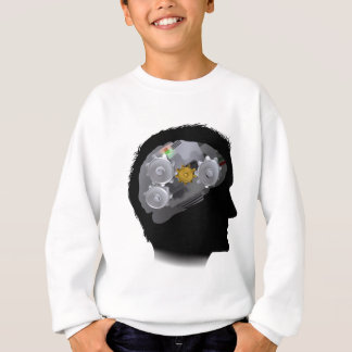 Machine Workings Gears Cogs Brain Man Sweatshirt