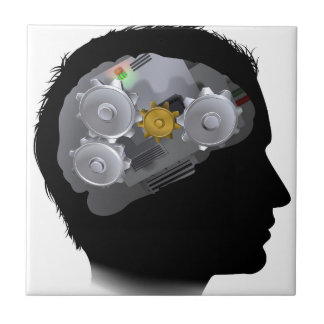 Machine Workings Gears Cogs Brain Man Tiles