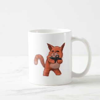 Machinegun Cat_orange Coffee Mug