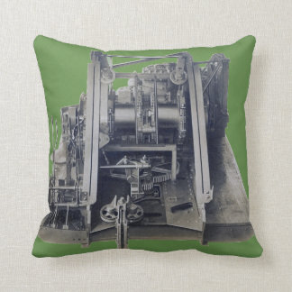 Machinery Industrial Gears Engineering Vintage Throw Pillow
