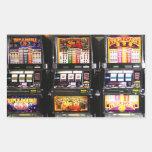 Machines à rêves de fentes de Las Vegas Sticker En Rectangle