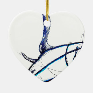 Machines of Loving Grace Ceramic Heart Ornament