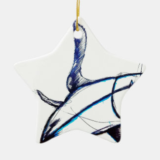 Machines of Loving Grace Ceramic Star Ornament