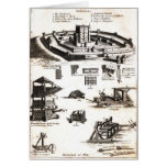Machines of War and Castle Diagram Greeting Card