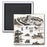 Machines of War and Castle Diagram Refrigerator Magnets