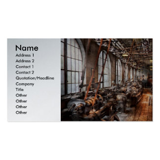 Machinist - A fully functioning machine shop  Business Card