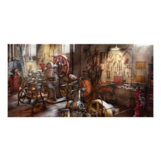 Machinist - A room full of memories Personalized Photo Card