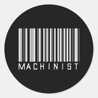 Machinist Bar Code Round Sticker