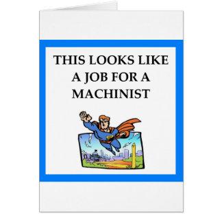 MACHINIST CARD