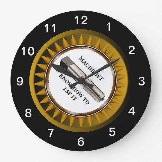 Machinist know how to tap it Wall Clock