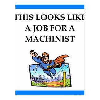 MACHINIST POSTCARD