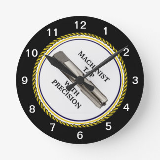 MACHINIST TAP WITH PRECISION ROUND CLOCK