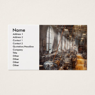 Machinist - Welcome to the workshop Business Card