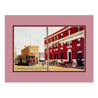 Mâchoire vintage Canada d'orignaux de grand-rue Cartes Postales