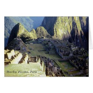'Machu Picchu at Dawn' Card