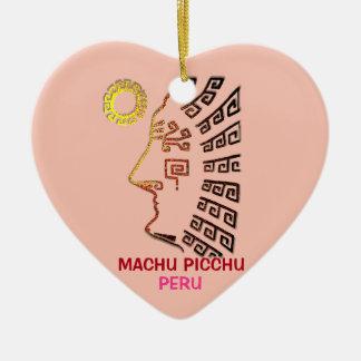 Machu Picchu Drawing Ceramic Ornament