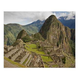 Machu Picchu, inca city in Peru poster